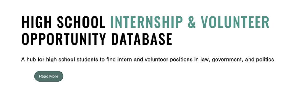 Database To Find High School Internships